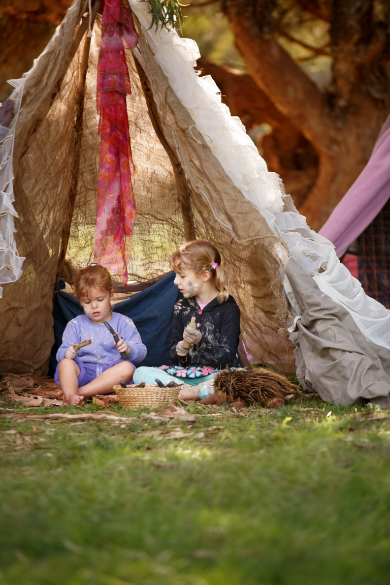Nature-based play for families